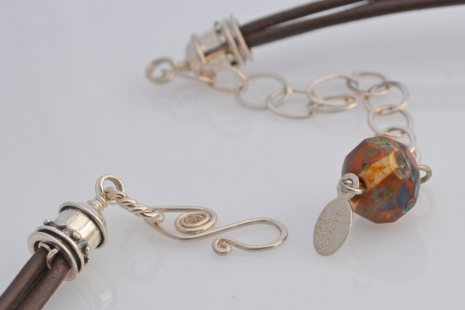 Adjustable clasp on Statement Necklace, copyright Honey from the Bee