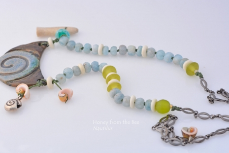 Mixed Media Statement Necklace, copyright Honey from the Bee