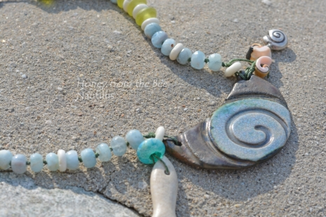 Ocean Inspired Statement Necklace, copyright Honey from the Bee