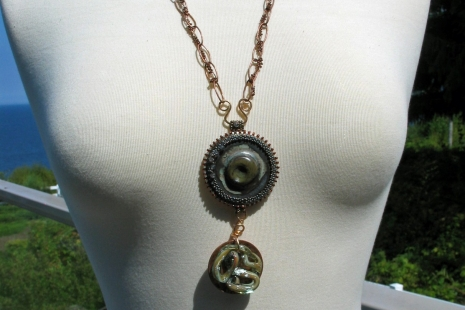 Tunic length Statement Necklace, copyright Honey from the Bee