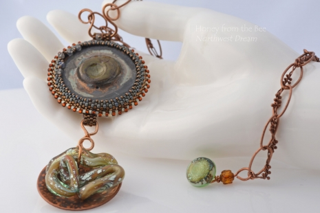 Northwest Inspired Artisan Necklace, copyright Honey from the Bee