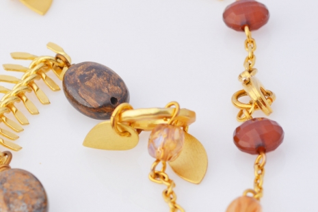 Gold Autumn chain, copyright Honey from the Bee