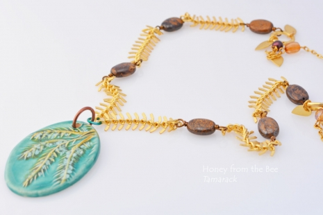 Autumn Artisan Necklace, copyright Honey from the Bee
