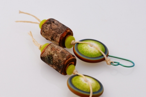 Whimsical Woodland Earrings, copyright Honey from the Bee