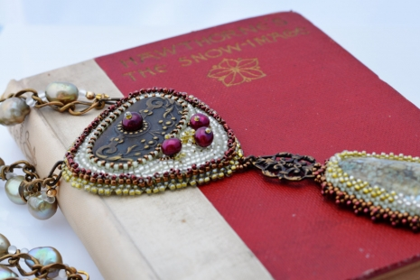 Winter Statement Necklace, copyright Honey from the Bee