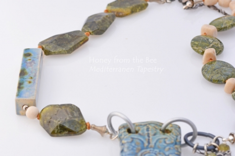 One of a Kind Artisan Necklace, copyright Honey from the Bee