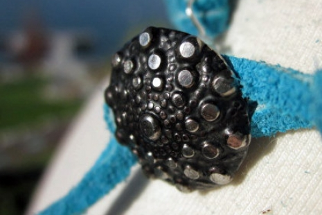 Leather and Button Clasp, copyright Honey from the Bee