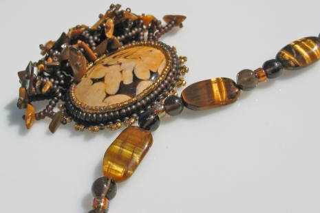 One of a Kind Statement Necklace, copyright Honey from the Bee
