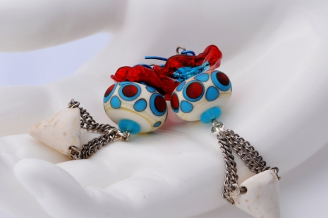 Circus Inspired Earrings, copyright Honey from the Bee