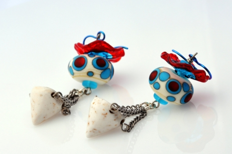 Bold Happy Earrings, copyright Honey from the Bee