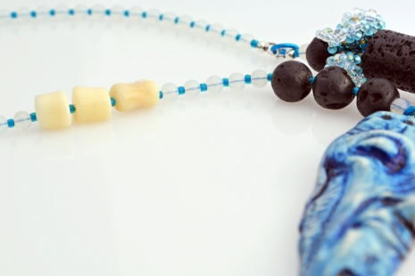 One of a kind Ocean Inspired necklace, copyright Honey from the Bee
