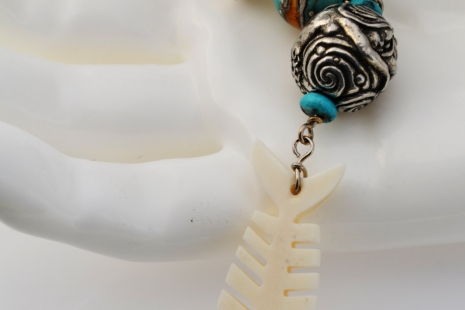 Mermaid Talisman Pendant, Copyright Honey from the Bee