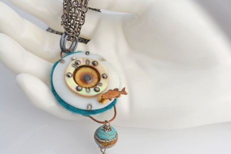 Gulf Oil Spill Talisman Necklace, copyright Honey from the Bee