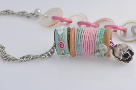 Sewer's Artisan Necklace, copyright Honey from the Bee