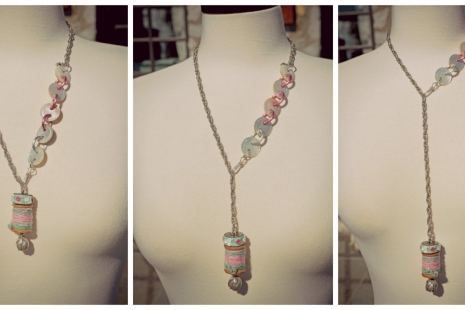 Statement Necklace wearable 3 ways, copyright Honey from the Bee