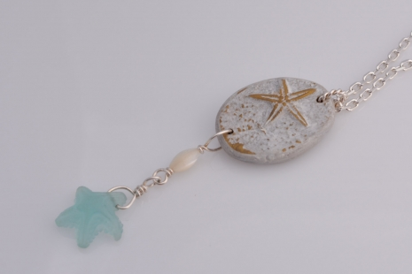 Beach Bride Pendant, copyright Honey from the Bee