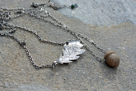 Layered Woodland Necklaces, copyright Honey from the Bee