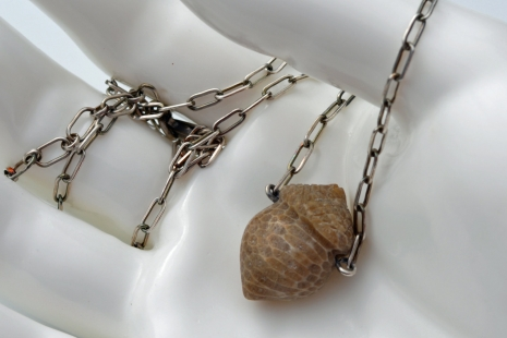 Semi-Precious Acorn Pendant, copyright Honey from the Bee