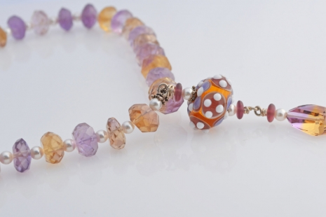 Yellow and Lavender Necklace, copyright Honey from the Bee
