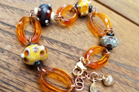 Yellow and brown bracelet