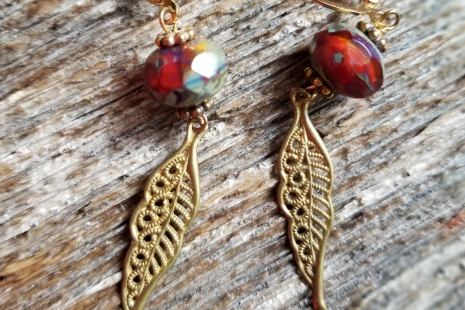 Red Fall earrings