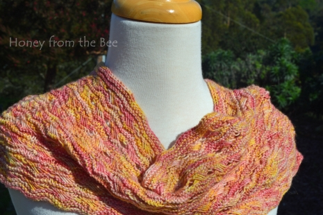 Sunset colored cowl