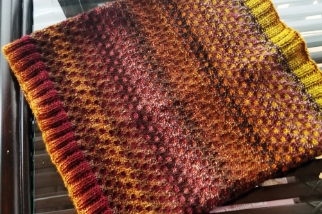 Rust, yellow and brown scarf