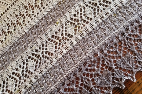 Intricate lace shawl