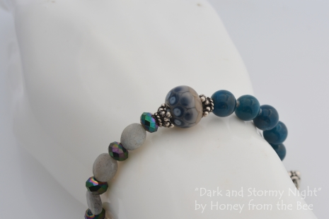 Grey and Teal bracelet
