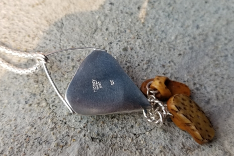 Sterling silver pendant back