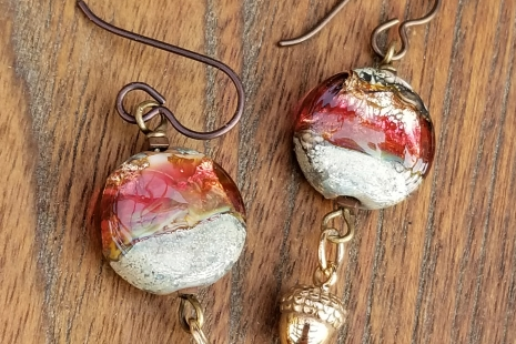 Rubino Lampwork earrings