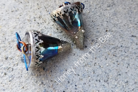 Raku and Silver earrings