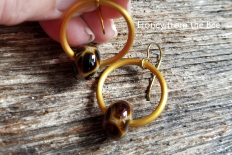 Lampwork hoop earrings