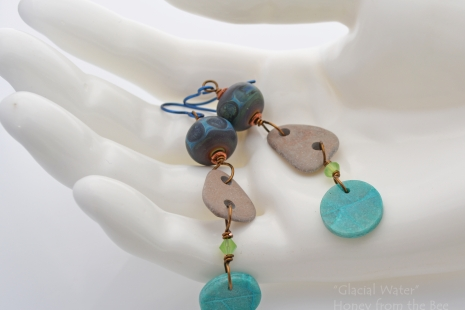 Glacial Blue dangle earrings