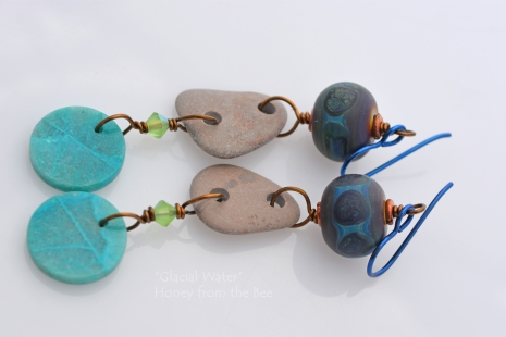 Boho lake inspired earrings