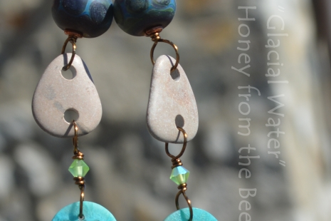 Boho style nature inspired earrings