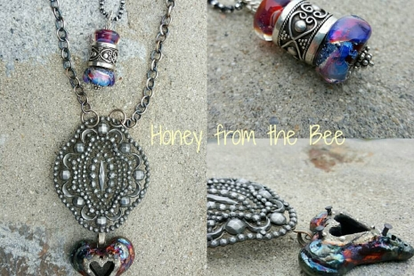 Layered Gothic style necklaces