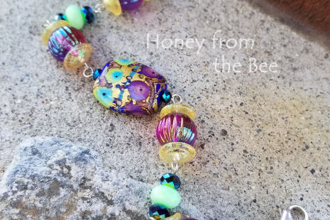 Green and purple bracelet