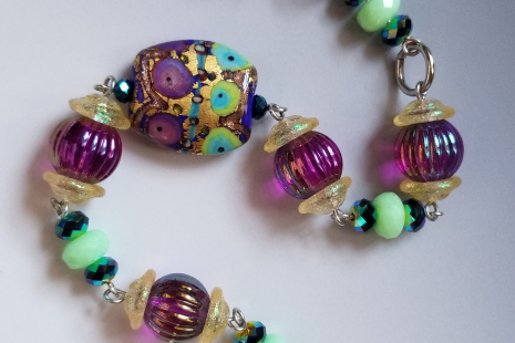 Grape hyacinth bracelet