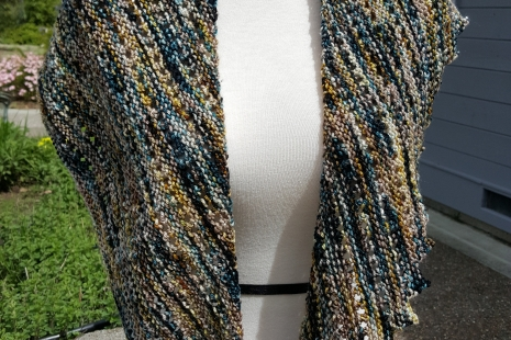 Teal and Sand Shawl