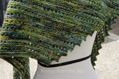 Blue and Green shawl