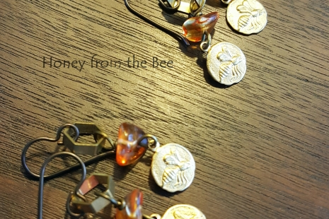 Honeybee artisan earrings