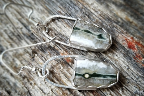 Ocean Jasper artisan earrings