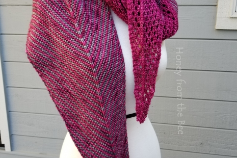 Lace and stripe scarf