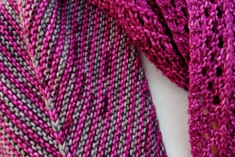Magenta and grey scarf