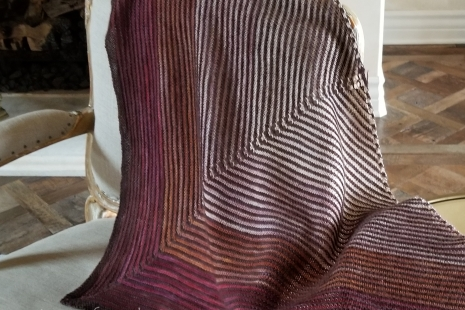 Berry toned handknit wrap