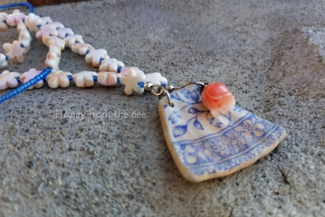 Blue and White Sea Pottery jewelry
