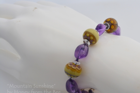 Purple and Yellow bracelet
