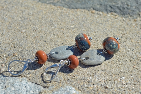Grey and Terra Cotta Earrings