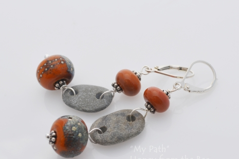 Silver and Lampwork earrings